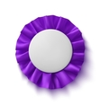 Purple fabric award ribbon vector image vector image