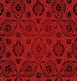Red and black Seamless abstract floral pattern vector image vector image