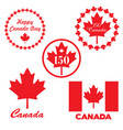 red canada day graphics vector image