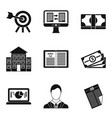 resolution icons set simple style vector image vector image