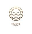 round logo sunny sea vector image
