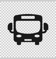 school bus icon in transparent style autobus on vector image vector image