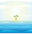 Seascape withTropical Island vector image