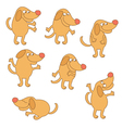 Set of cartoon dog vector image vector image
