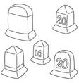 set of milestone vector image