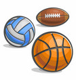set sport ball vector image vector image