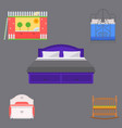 sleeping furniture design bedroom exclusive vector image vector image
