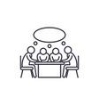 small business meeting line icon concept small vector image vector image