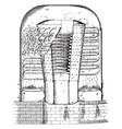 steam boiler engine vintage vector image vector image