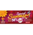 Summer Sale Banner 1500x600 Pixel vector image vector image