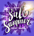 Sunset on the beach summer sale violet background