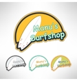 Surfboard label logo or surging shop board T vector image vector image