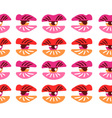Surrealistic lips and eyes Seamless pattern eps 10 vector image