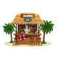 tropical bungalow bar vector image