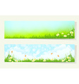 Two Horizontal Banners vector image