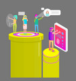 virtual reality people gadgets vector image vector image