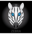 zebra cartoon character head eps10 vector image vector image