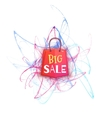 Big sale banner with red packet vector image