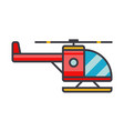 helicopter flat line concept vector image