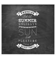 Best Summer Holidays - Calligraphy Design vector image