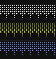 seamless christmas garlands set on dark background vector image