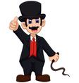 cute Ringmaster cartoon thumb up vector image