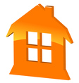 3d symbol home vector image vector image