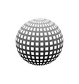 abstract globe dotted sphere 3d halftone effect vector image vector image