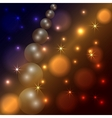 abstract star and pearl dark background vector image