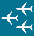 airplanes on sky background vector image vector image