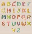 Alphabet Flowers Design A-Z vector image vector image