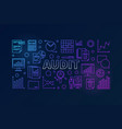 audit horizontal colorful banner vector image vector image