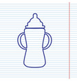 baby bottle sign navy line icon on vector image vector image