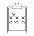 board tactical diagram american football outline vector image