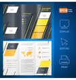 brochure design template folder leaflet geometric vector image vector image