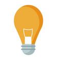 bulb light illumination idea creativity vector image vector image