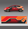 car wrap decal design graphic abstract racing vector image vector image