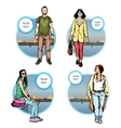 citizen hipster character man vector image vector image