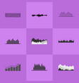 collection of different charts vector image vector image