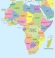 coloured political map of africa vector image vector image