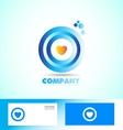 Corporate circle heart love logo vector image vector image