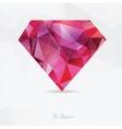 Diamond Polygonal geometric symbol vector image vector image