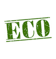 eco green grunge vintage stamp isolated on white vector image vector image