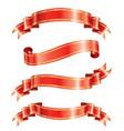 elegance ribbon banner vector image vector image