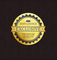 exclusive premium quality brand and best choice vector image vector image