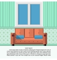 Flat of living room interior vector image