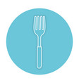 fork cutlery isolated icon vector image vector image