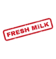 Fresh Milk Text Rubber Stamp vector image vector image