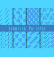 Geometric modern seamless pattern set triangles vector image