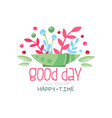 good day happy time logo design element can be vector image